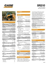 SR210 Specifications