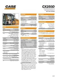 CX250D Long Reach Specifications