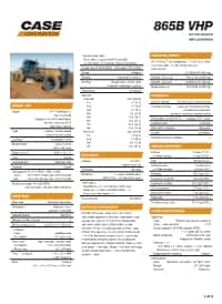 865B Specifications