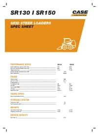 SR130/ SR150 - Spec sheet