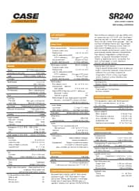 SR240 Specifications