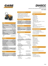 DV45CC Specifications