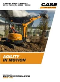 C-Series Mini-Excavators - CX17C/ CX37C
