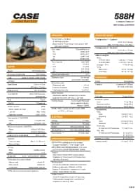 588H Specifications