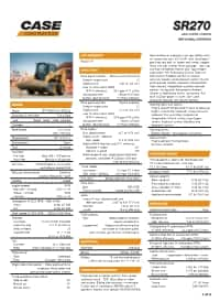 SR270 Specifications