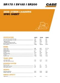 SR175/ SV185/ SR200 - Spec sheet