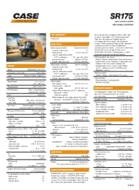 SR175 Specifications