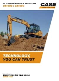 Crawler Excavators - CX130C/CX160C