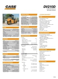 DV210D Specifications