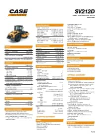 SV212D Specifications