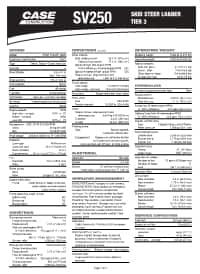 SV250 Tier 3 Specifications