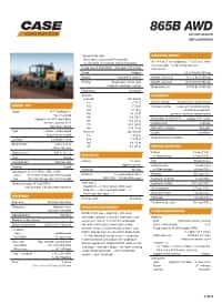 865B AWD Specifications
