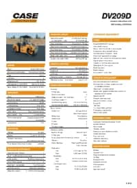 DV209D Specifications