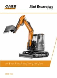 CX C Series Mini Excavator Family Brochure