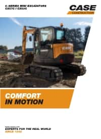 C-Series Mini-Excavators - CX57C/ CX60C