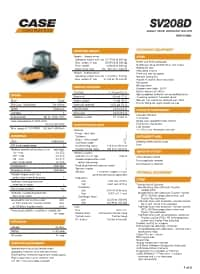 SV208D Specifications