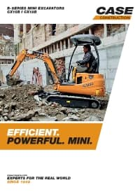 Mini-Excavators - CX15B/CX18B