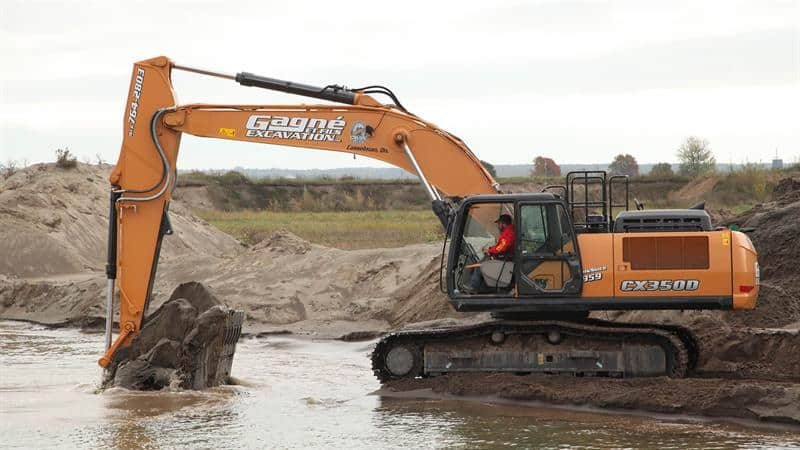 CX350D Excavator Provides Speed and Power for Family