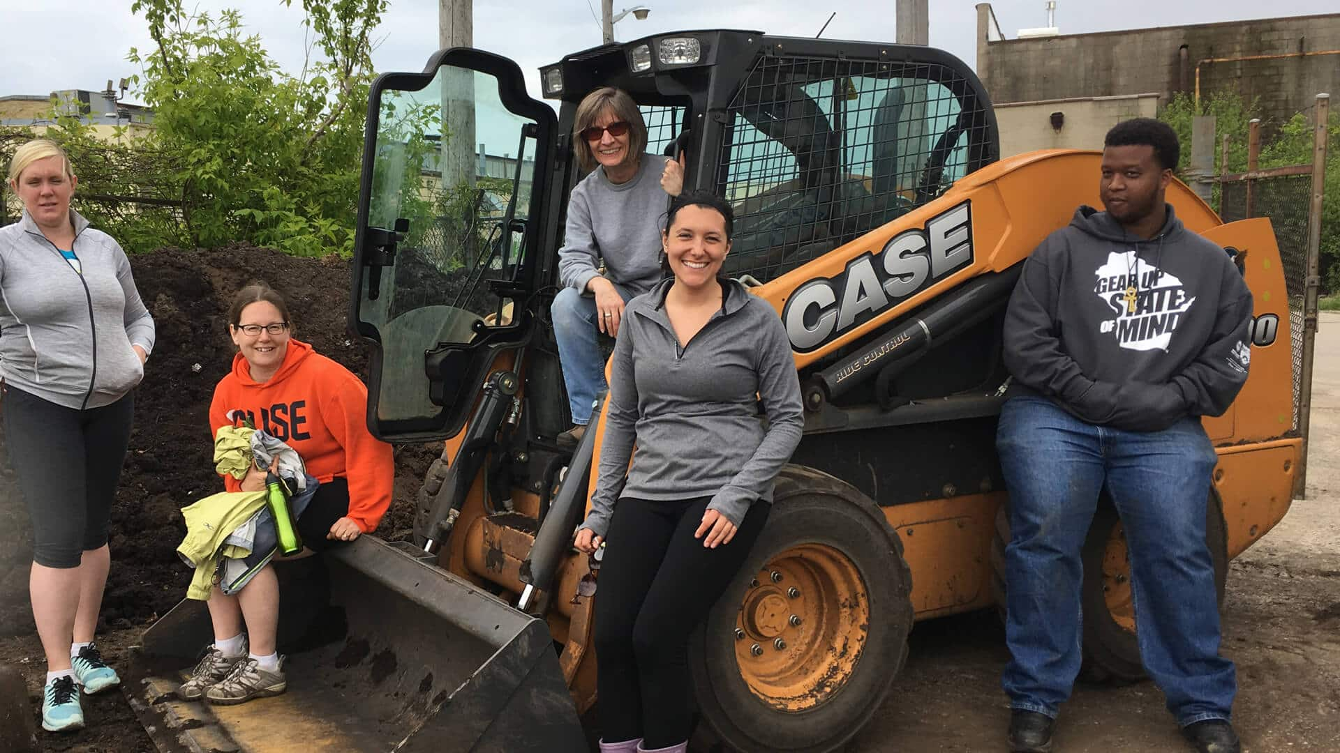 case and cnh industrial donate equipment | case construction