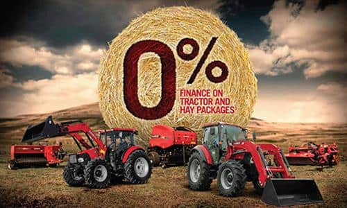 0% finance on tractor and hay equipment packages