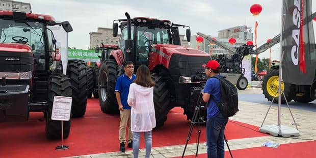 Case IH unveils the new Magnum™ 3404 tractor at the Inner Mongolia International Animal Husbandry Machinery Expo 2018