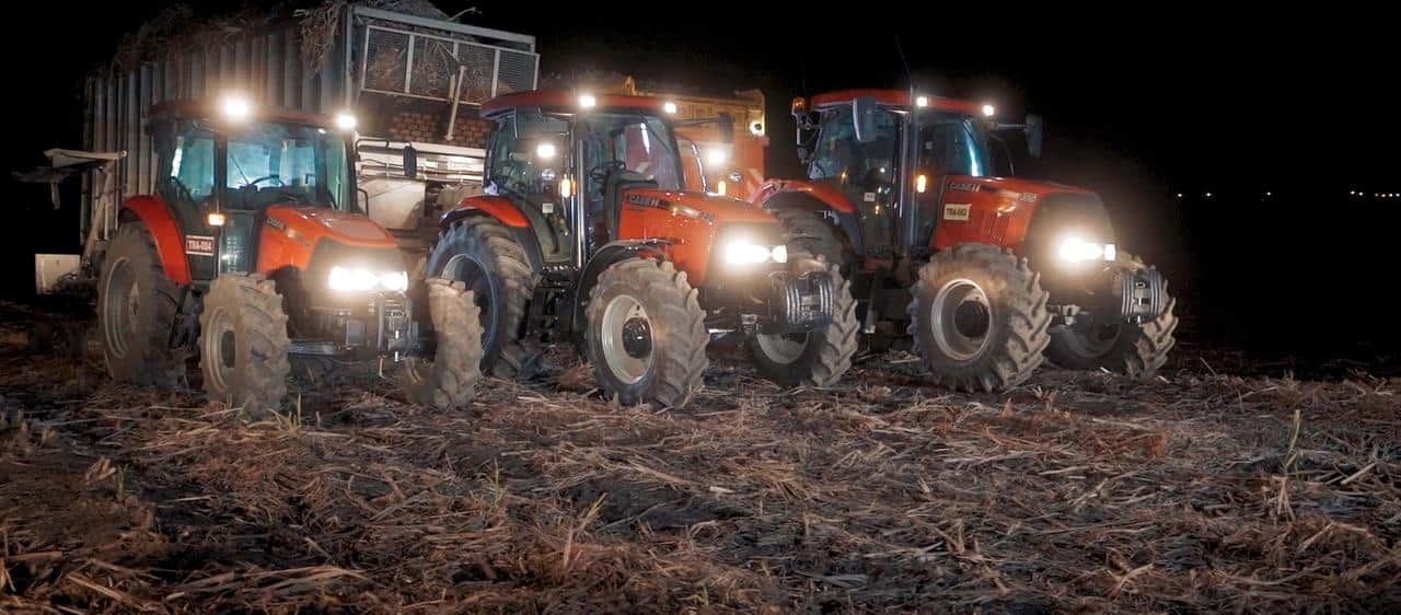 Case IH tractors play key role in renewable energy operation turning sugarcane waste into valuable commodity