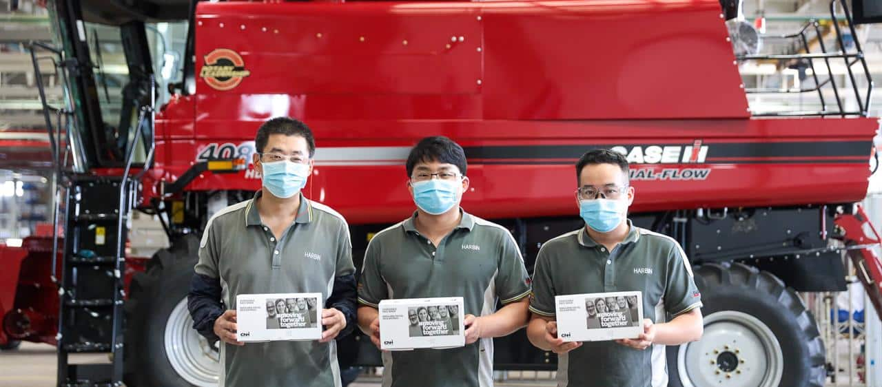 "Protective face masks ""Made in Harbin"""
