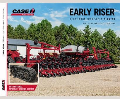 Early Riser 2160 Large Front-Fold Planter Spec-Sheet