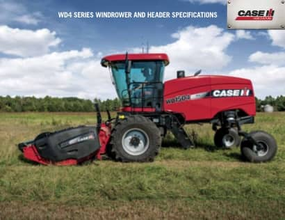 WD4 Series Windrower and Headers Spec Sheet
