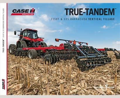 True-Tandem 335VT and 335 Barracuda Vertical Tillage Brochure