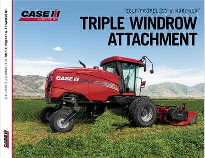 Triple Windrow Attachment