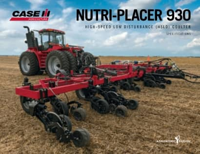 Nutri-Placer 930 High-Speed Low Disturbance Spec Sheet