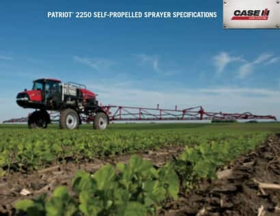 Patriot 2250 Sprayer Spec Sheet