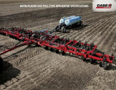 Nutri-Placer 940 Spec Sheet