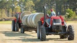 Farmall 110A with Bale Wagon
