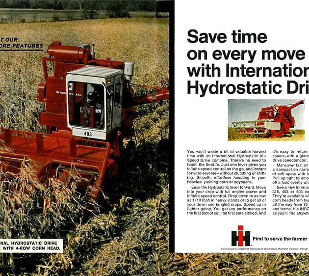 Save Time on Every Move with International Hydrostatic Drive