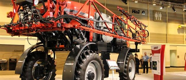 The Patriot 2250 sprayer - the highest clearance in its class and a 660 gallon mid-mount poly tank