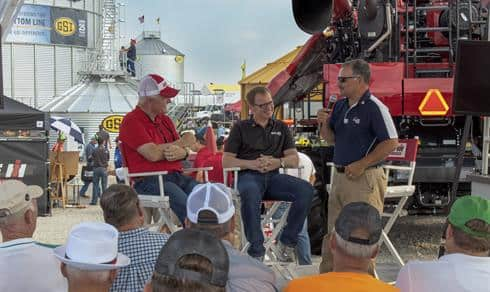 Max Armstrong on the Case IH Be Ready Stage.  Farm Progress Show 2015.