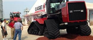 Mitch Kaiser, Marketing Manager for the Case IH Steiger line, with an original Steiger 9380 Quadtrac.  Farm Progress Show 2015.
