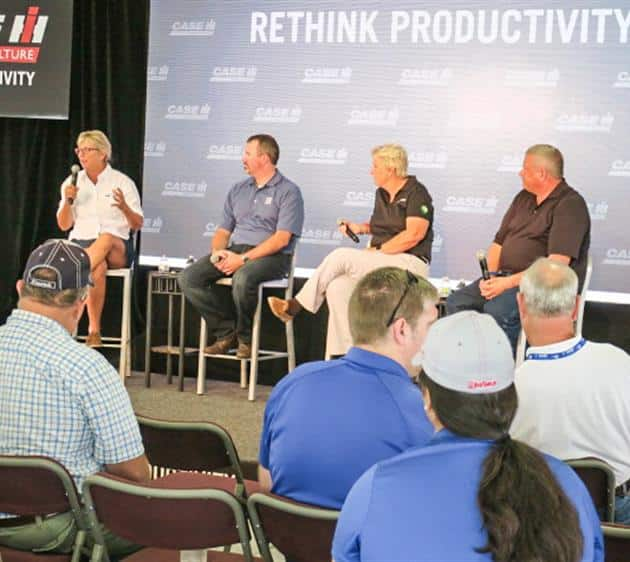 AgriPulse Panel on the Case IH Stage at the Farm Progress Show