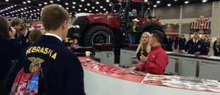 Case IH Staff answering questions At the 2015 National FFA Expo