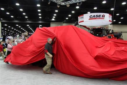 National Farm Machinery Show 2016 - Waiting to see what's under the red drape