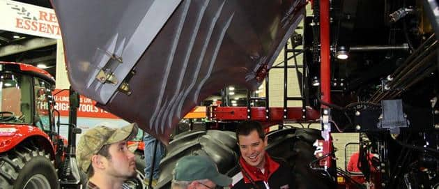National Farm Machinery Show 2016 - Up under the hood of the  combine
