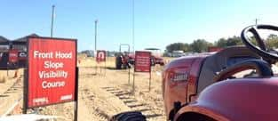 Sunbelt Ag Expo 2015 - Farmall Land Front Hood Slope Visibility Course