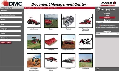 Operator's Manuals Available to Purchase at the Document Management Center