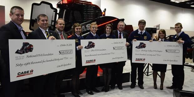 "Case IH ""Red Power"" Skid Steer Generates More Than $75,000 for FFA"
