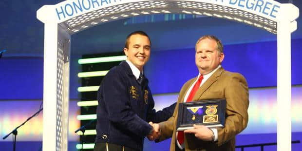 Case IH's Rasch Receives Honorary FFA American Degree
