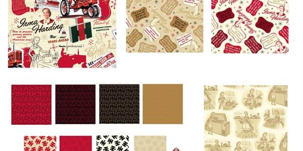 Eleven New Fabric Prints Celebrate Case IH History