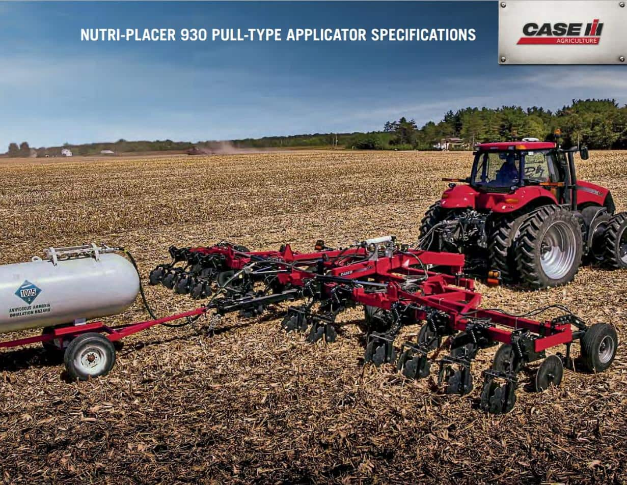 Nutri-Placer 930 Spec Sheet