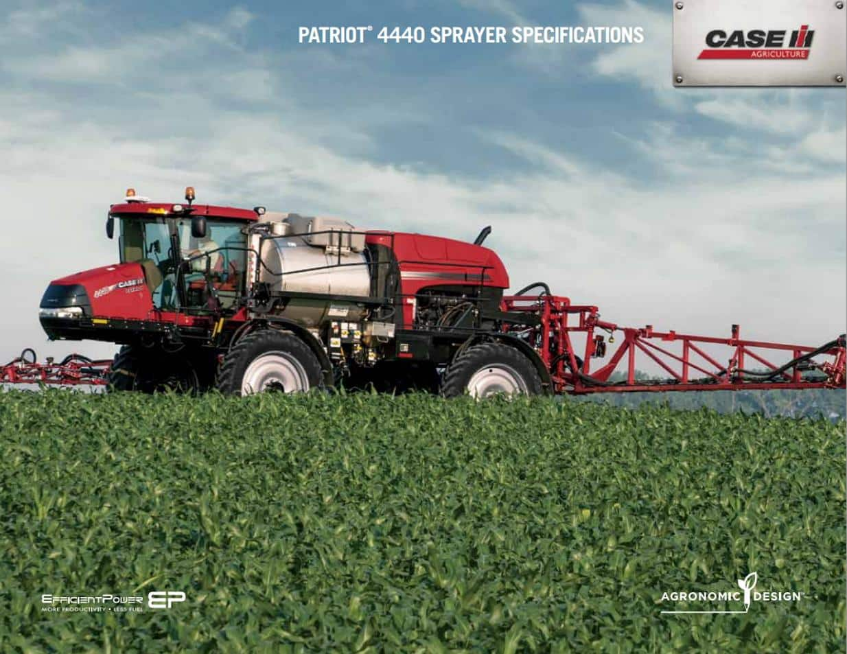 Patriot 4440 Sprayer Spec Sheet